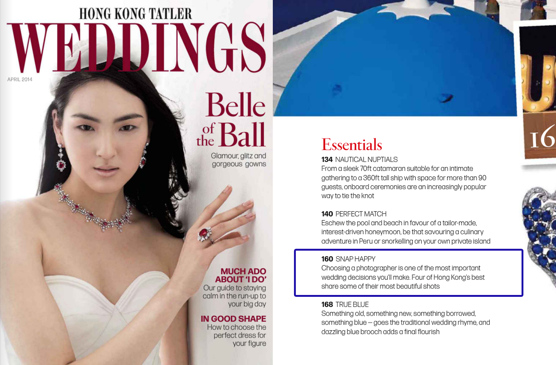 HK Tatler Wedding Apr2014 Cover JY
