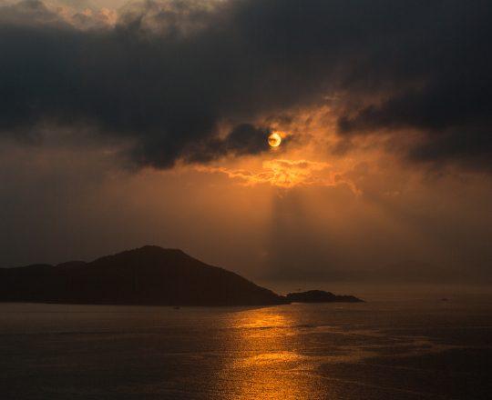 Hong Kong neighborhood, landscape, photography, Ap Lei Chau, Lamma Island, Sunset, Moon