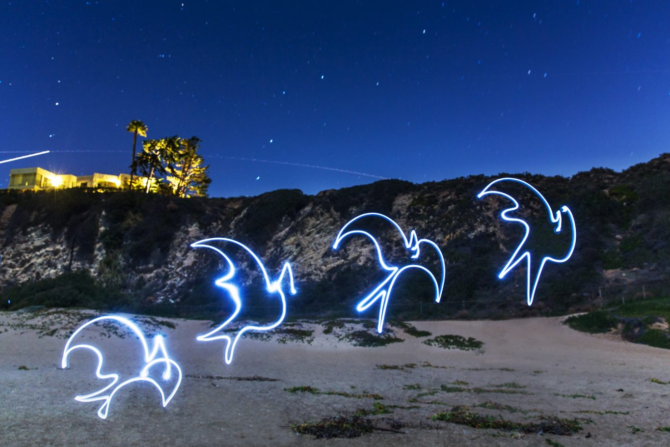 Hong Kong, Light Painting Photography, Kelsey Montague